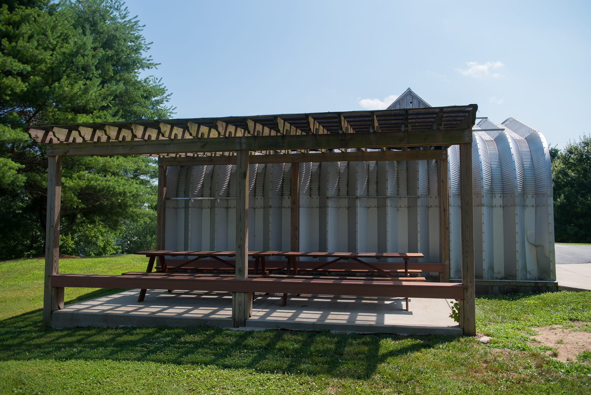 <p>The picnic area</p>